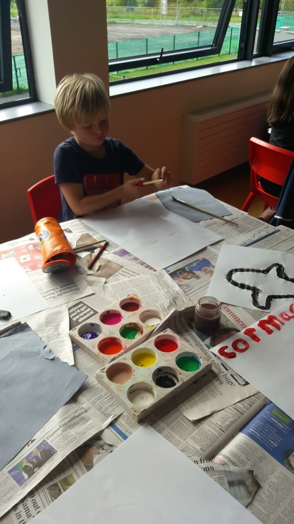 We love to paint and create art