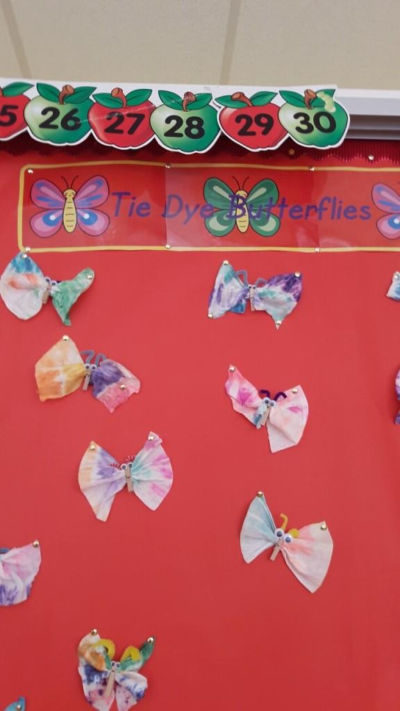 Our Tie Dye butterflies look so beautiful!